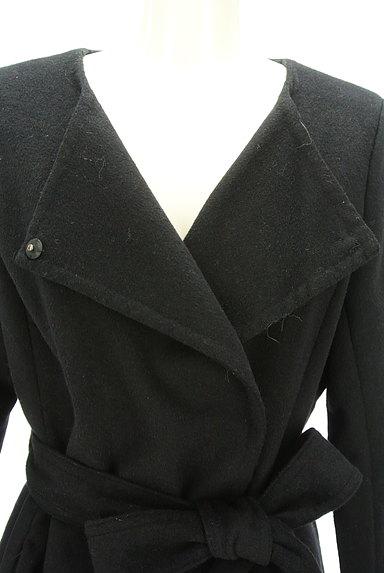 ROYAL PARTY(ロイヤルパーティ)の古着「ノーカラー比翼ロングコート(コート)」大画像4へ