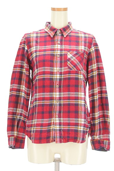 CUBE SUGAR(キューブシュガー)の古着「チェック柄フランネルシャツ(カジュアルシャツ)」大画像1へ