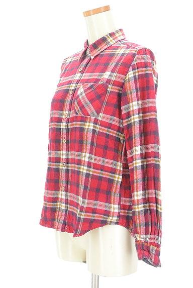 CUBE SUGAR(キューブシュガー)の古着「チェック柄フランネルシャツ(カジュアルシャツ)」大画像3へ
