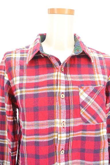 CUBE SUGAR(キューブシュガー)の古着「チェック柄フランネルシャツ(カジュアルシャツ)」大画像4へ