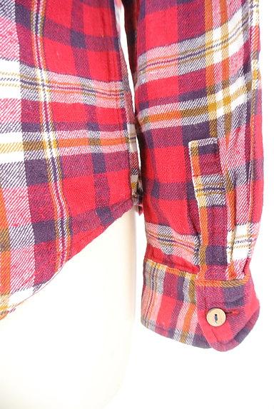 CUBE SUGAR(キューブシュガー)の古着「チェック柄フランネルシャツ(カジュアルシャツ)」大画像5へ