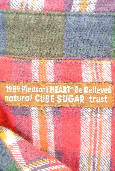 CUBE SUGAR(キューブシュガー)の古着「チェック柄フランネルシャツ(カジュアルシャツ)」大画像6へ