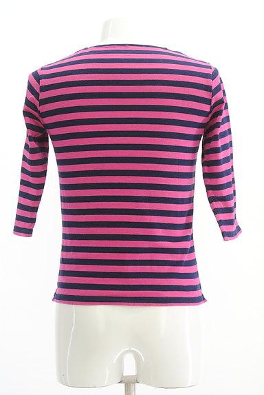 TK(ティーケー)の古着「カラーボーダー柄7分袖カットソー(Tシャツ)」大画像2へ