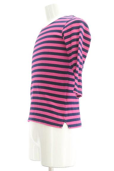 TK(ティーケー)の古着「カラーボーダー柄7分袖カットソー(Tシャツ)」大画像3へ