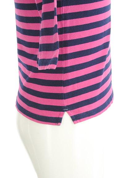 TK(ティーケー)の古着「カラーボーダー柄7分袖カットソー(Tシャツ)」大画像4へ