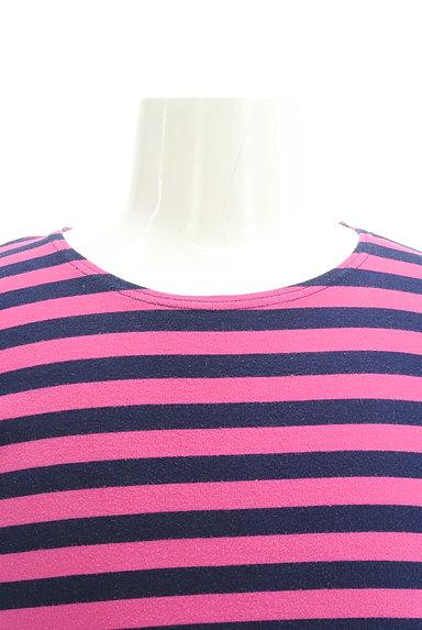 TK(ティーケー)の古着「カラーボーダー柄7分袖カットソー(Tシャツ)」大画像5へ