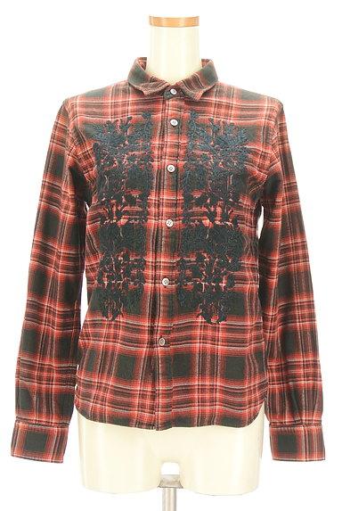 ZUCCa(ズッカ)の古着「刺繍チェック柄カジュアルシャツ(カジュアルシャツ)」大画像1へ
