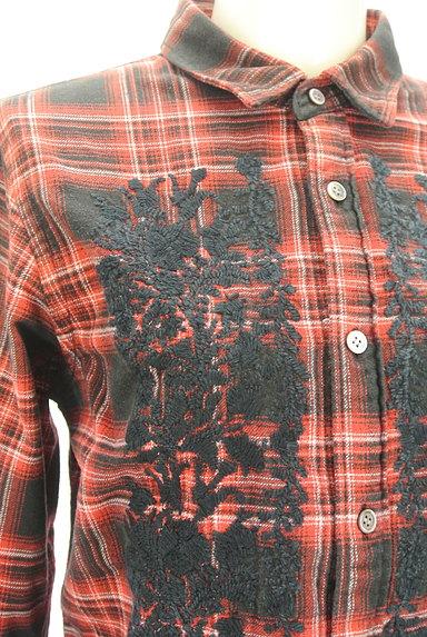 ZUCCa(ズッカ)の古着「刺繍チェック柄カジュアルシャツ(カジュアルシャツ)」大画像4へ