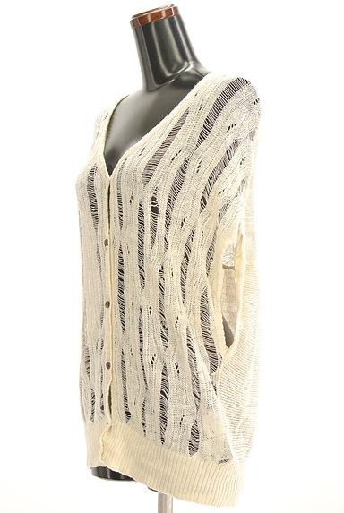 VICKY(ビッキー)の古着「透け編みニットカーディガン(カーディガン・ボレロ)」大画像3へ
