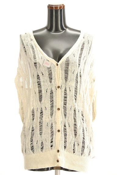VICKY(ビッキー)の古着「透け編みニットカーディガン(カーディガン・ボレロ)」大画像4へ