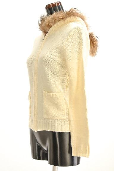 VICKY(ビッキー)の古着「ファー付きニットカーディガン(カーディガン・ボレロ)」大画像3へ