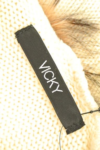 VICKY(ビッキー)の古着「ファー付きニットカーディガン(カーディガン・ボレロ)」大画像6へ
