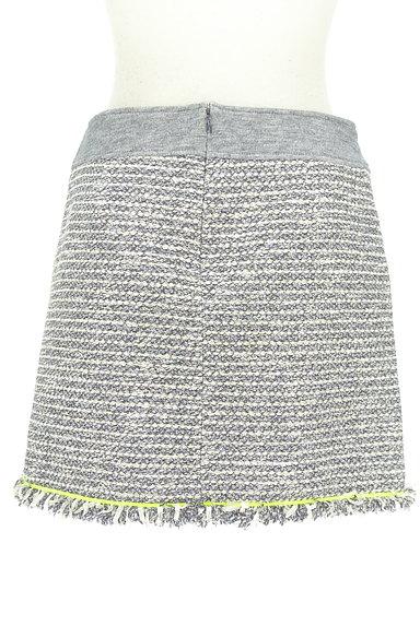 VICKY(ビッキー)の古着「フリンジツイードミニスカート(ミニスカート)」大画像2へ
