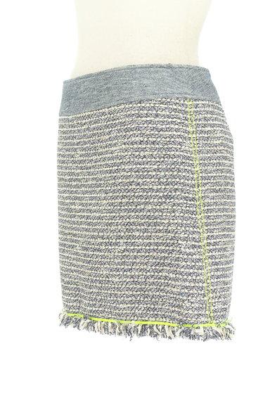 VICKY(ビッキー)の古着「フリンジツイードミニスカート(ミニスカート)」大画像3へ