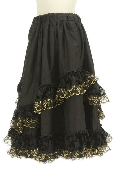 yaponskii(ヤポンスキー)の古着「ゴールドラメフリルスカート(スカート)」大画像3へ
