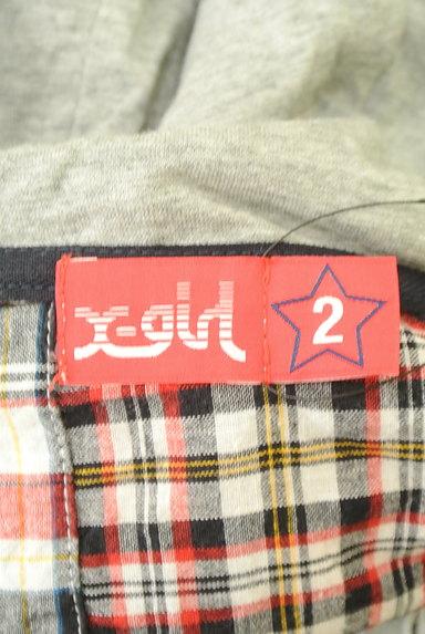 X-girl(エックスガール)の古着「パッチワーク風フード付ブルゾン(ブルゾン・スタジャン)」大画像6へ