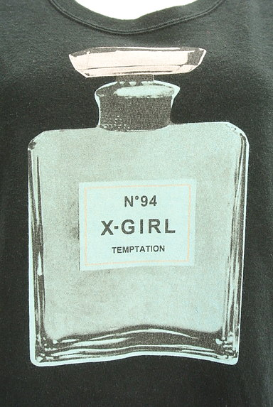 X-girl(エックスガール)の古着「5分袖プリントTシャツワンピ(ワンピース・チュニック)」大画像4へ