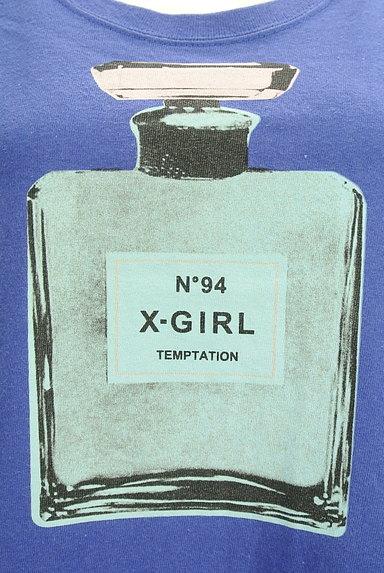 X-girl(エックスガール)の古着「5分袖カラーロングTシャツワンピ(ワンピース・チュニック)」大画像4へ