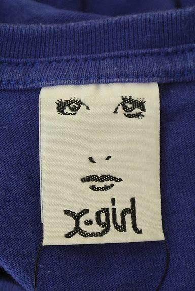X-girl(エックスガール)の古着「5分袖カラーロングTシャツワンピ(ワンピース・チュニック)」大画像6へ