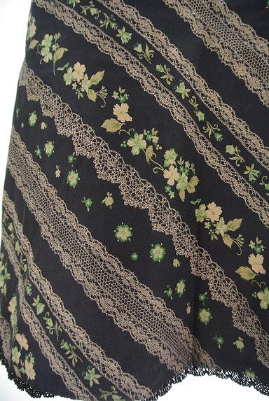 LYON(リヨン)の古着「レース花柄フレアスカート(スカート)」大画像5へ