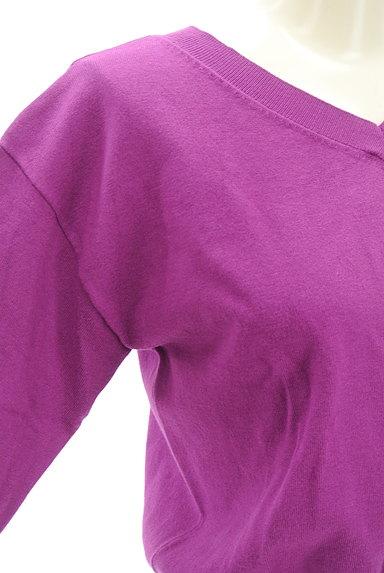 FREE'S MART(フリーズマート)の古着「コンパクト5分袖カラーニット(ニット)」大画像4へ