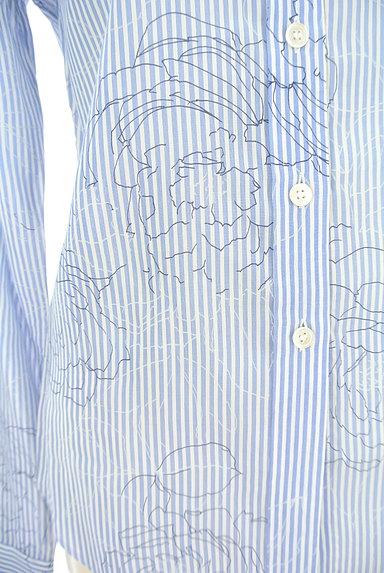 theory(セオリー)の古着「ストライプ×花柄シャツ(カジュアルシャツ)」大画像5へ
