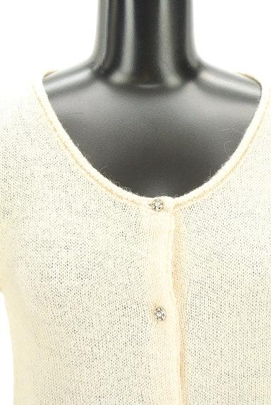 PROPORTION BODY DRESSING(プロポーションボディ ドレッシング)の古着「ゴールドラメラインカーディガン(カーディガン・ボレロ)」大画像4へ