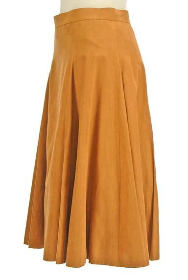 ROPE(ロペ)の古着「スエード風カラーミモレスカート(スカート)」大画像3へ