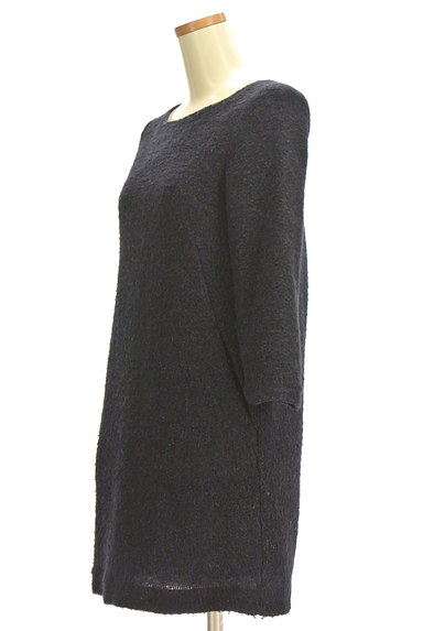 ROPE(ロペ)の古着「ラメ起毛7分袖ワンピース(ワンピース・チュニック)」大画像3へ