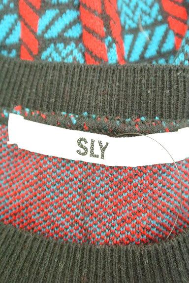 SLY(スライ)の古着「チェック柄バイカラーニット(ニット)」大画像6へ