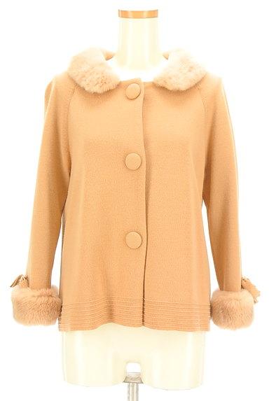 STRAWBERRY-FIELDS(ストロベリーフィールズ)の古着「袖リボンミドル丈コート(コート)」大画像1へ