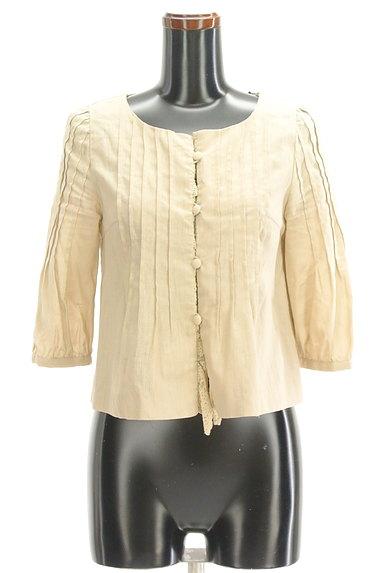 Tiara(ティアラ)の古着「7分袖ノーカラージャケット(ジャケット)」大画像1へ
