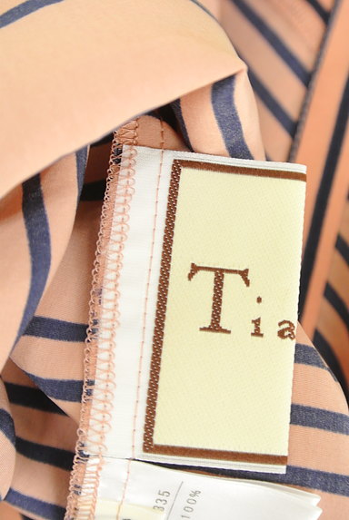 Tiara(ティアラ)の古着「ボーダー柄フレンチワンピース(ワンピース・チュニック)」大画像6へ