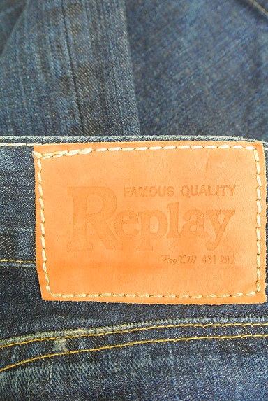 REPLAY(リプレイ)の古着「ダメージストレートパンツ(デニムパンツ)」大画像6へ