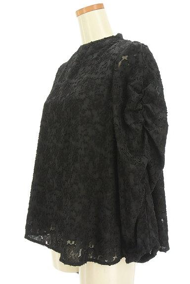 Ketty Cherie(ケティ シェリー)の古着「ジャガードハイネックカットソー(カットソー・プルオーバー)」大画像3へ