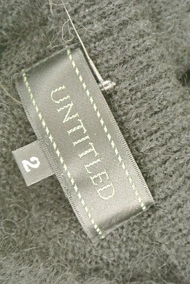 UNTITLED(アンタイトル)の古着「チェック柄切替ニットトップス(ニット)」大画像6へ