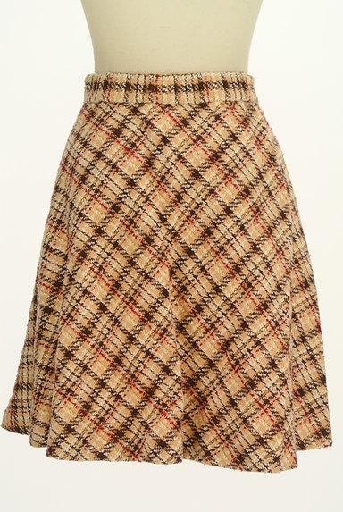 LAISSE PASSE(レッセパッセ)の古着「チェック柄フレアミニスカート(ミニスカート)」大画像2へ