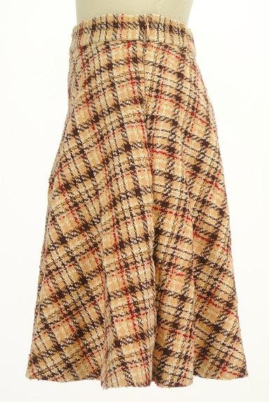 LAISSE PASSE(レッセパッセ)の古着「チェック柄フレアミニスカート(ミニスカート)」大画像3へ