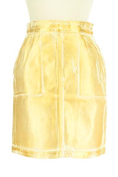 MOUSSY(マウジー)の古着「ゴールドシャイニーミニスカート(ミニスカート)」大画像1へ