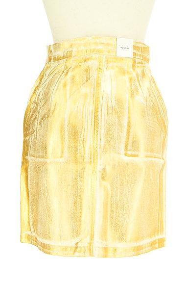 MOUSSY(マウジー)の古着「ゴールドシャイニーミニスカート(ミニスカート)」大画像2へ
