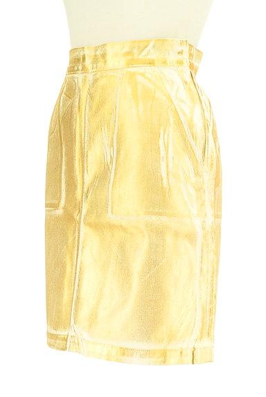 MOUSSY(マウジー)の古着「ゴールドシャイニーミニスカート(ミニスカート)」大画像3へ