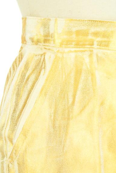 MOUSSY(マウジー)の古着「ゴールドシャイニーミニスカート(ミニスカート)」大画像4へ