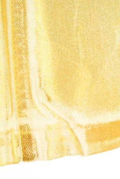 MOUSSY(マウジー)の古着「ゴールドシャイニーミニスカート(ミニスカート)」大画像5へ