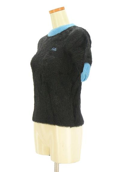 MOUSSY(マウジー)の古着「バイカラー起毛5分袖ニット(ニット)」大画像3へ