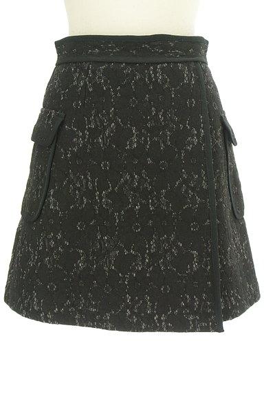 MERCURYDUO(マーキュリーデュオ)の古着「裏起毛レースラップ風ミニスカート(ミニスカート)」大画像1へ