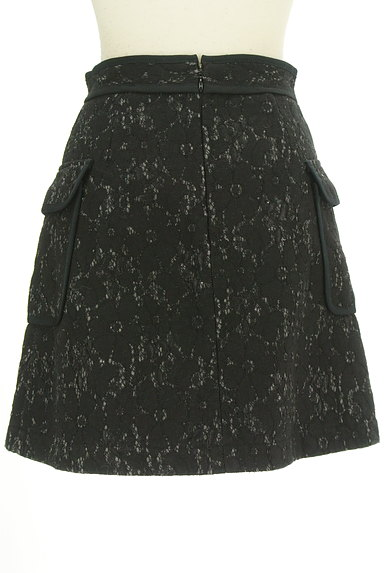 MERCURYDUO(マーキュリーデュオ)の古着「裏起毛レースラップ風ミニスカート(ミニスカート)」大画像2へ