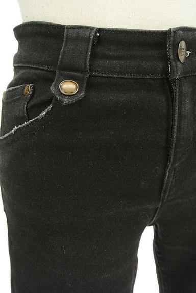 RD ROUGE DIAMANT(アールディー ルージュ ディアマン)の古着「ブラックスキニーデニムパンツ(デニムパンツ)」大画像4へ