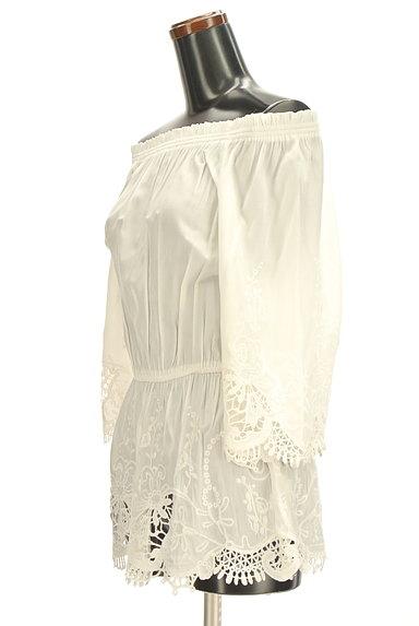 RD ROUGE DIAMANT(アールディー ルージュ ディアマン)の古着「刺繍レースペプラムロングカットソー(カットソー・プルオーバー)」大画像3へ