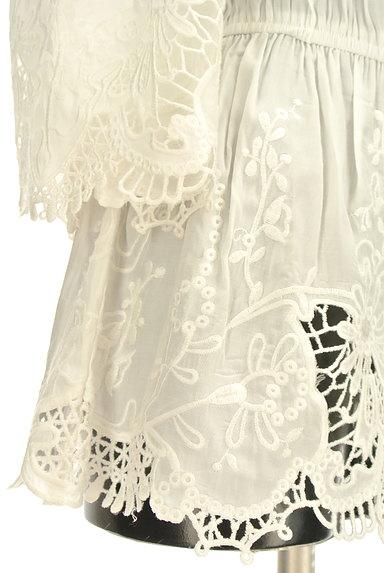 RD ROUGE DIAMANT(アールディー ルージュ ディアマン)の古着「刺繍レースペプラムロングカットソー(カットソー・プルオーバー)」大画像5へ