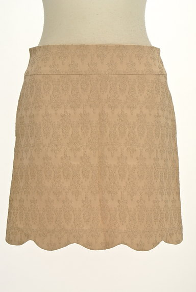 PROPORTION BODY DRESSING(プロポーションボディ ドレッシング)の古着「裾スカラップラメ刺繍ミニスカ(ミニスカート)」大画像1へ